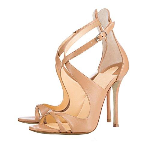 Calaier Zapatos Sandalias Beige Sinttico Tacn Aguja Hebilla 10cm Mujer De Cacatcac Vestir B O8qFrZwOv