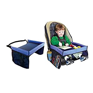 akkp kids car travel tray table seats bags organizer activity drawing play fun snack eating drink safety waterproof suitable for children toddler babies