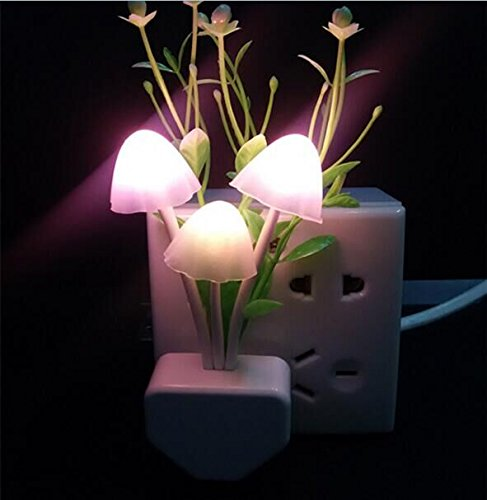 Drhob 1PCS Creative Fantastic Romantic Mushroom Light Sense Control Lamp  Beautiful Gift