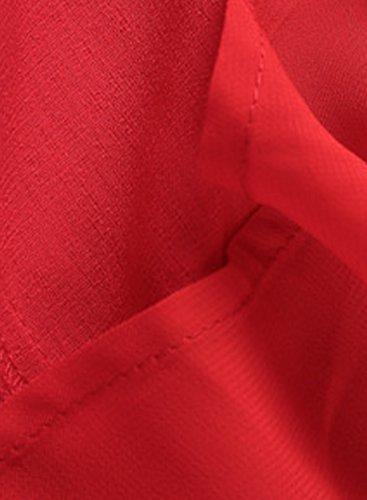 Achicgirl Boho Slit Skirt Maxi Solid High Women's Red rrqSwTz