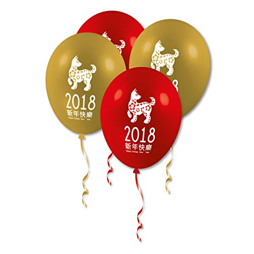Chinese New Year Party 2018 Zodiac Animal Year Dog Printed Latex Balloons (Decorations Chinese New Year)