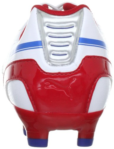Puma - Botas evoSPEED para hombre, tamaño 47 UK, color naranja Blanco (Weiss (white-limoges-ribbon red 01))