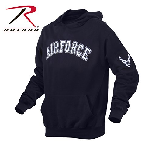 Air Force Hoodie Sweatshirt (Rothco Air Force Pullover Hoodie, Blue, Large)