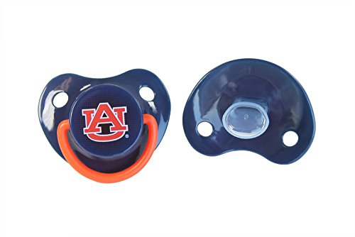 Orthodontic Pacifier | Official NCAA Auburn University Licensed Product - 2 Count Pack