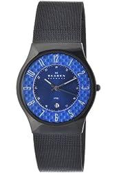 Skagen Men's 233XLSBNC Quartz Stainless Steel Blue Dial Watch