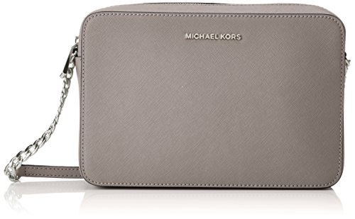 Michael Kors Jet Set Travel Large Crossbody Handbag – Pearl Grey