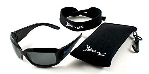 Baby Banz Little Boys'  Replaceable Lenses Sunglasses, Midnight Black, 4-10 Years