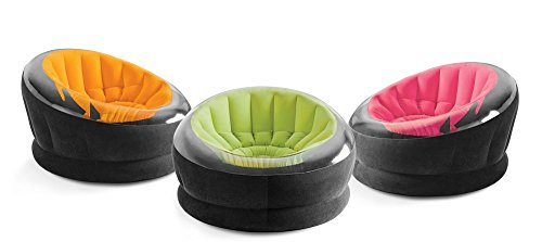 "Intex Inflatable Empire Chair, 44"" X 43"" X 27"", Color May Vary, 1 Chair"