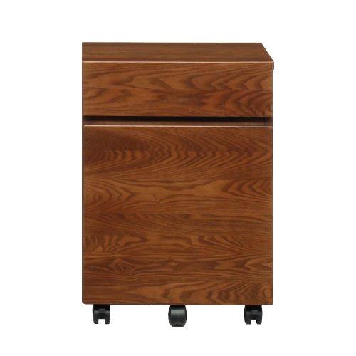 ブラウン/Lebul デスクワゴン ワゴン 収納 木製 天然木 シンプル ナチュラル ブラウン キャスター付 B01BOLU4OK ブラウン ブラウン
