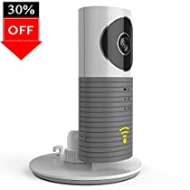 LUOYINAN Surveillance Monitoring Camera with Microphone Speaker Wired Webcam for Web, iOS, Android Gray