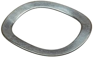 """Wave Washers, High Carbon Steel, 3 Waves, Inch, 0.531"""" ID, 0.734"""" OD, 0.009"""" Thick, 0.03"""" Compressed Height, 4lbs Load, (Pack of 10)"""