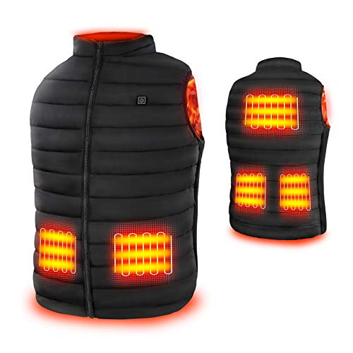 Rrtizan Heated Vest for Mens and Womens, USB Electric Heating Vests, 3 Temperature Levels Electrically Heated Jacket…