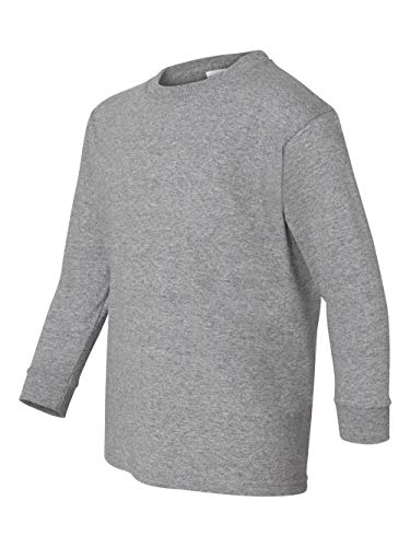 Gildan Big Boys' Seamless Crewneck Long Sleeve T-Shirt, X-Small, Sport Grey (Tshirts Seamless Kids)
