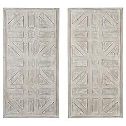 Ashley Furniture Signature Design - Dubem Wall Decor - Set of Two - Casual - Antique White