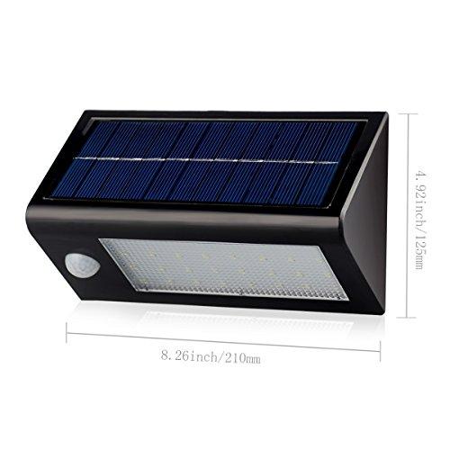 InnoGear Solar Powered Wall Light Sconces Nightlight Motion Sensor Detector
