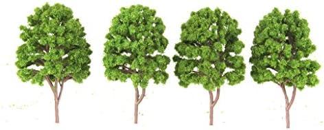 dailymall 10ピース/個路面電車模型木風景1/100スケールライトグリーン