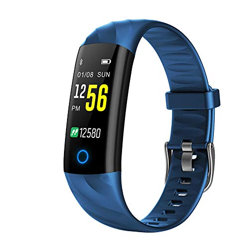 (Lovt Bluetooth Smart Watch, Waterproof Smartwatch Activity Fitness Tracker with Heart Rate Monitor Touch Screen Sport Wrist Bracelet Watch Pedometer for iOS Android (Blue))