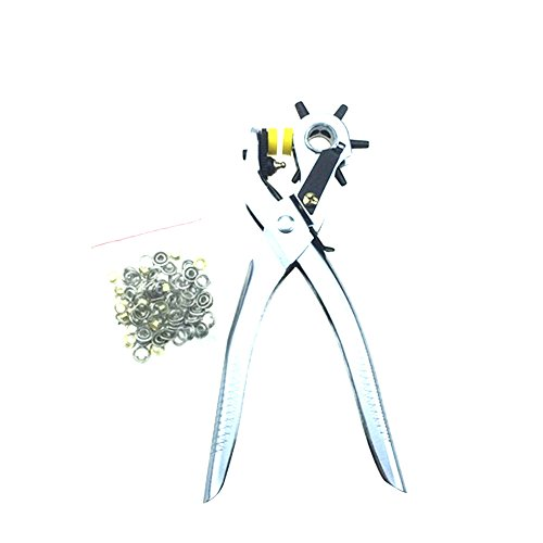 Useful Multi function Portable Puncher Heavy Duty Leather Hole Punch Hand Pliers Belt Holes Punches (Husqvarna Bobbin Case compare prices)