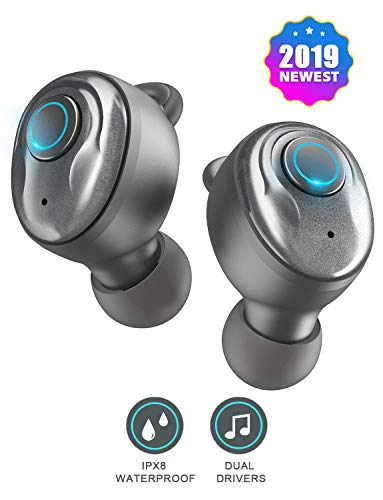 PeohZarr Wireless Earbuds Bluetooth Earbuds V5.0 with 3D Stereo Pro Sound, 17H Play Time, Noise Canceling Earphones with Built-in Mic and Mono Mode, IPX8 Waterproof, Calls Switch Quick Access to Siri