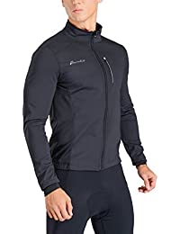 Men's Winter Thermal Cycling Bike Jacket, Softshell Windbreaker For Running – Windproof, Breathable and Reflective