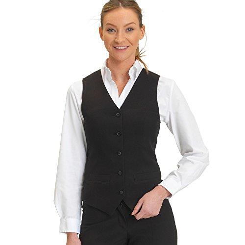 dennys-joseph-alan-womens-ladies-self-back-waistcoat-14-us-black