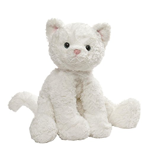 (GUND Cozys Collection Cat Stuffed Animal Plush, White, 10