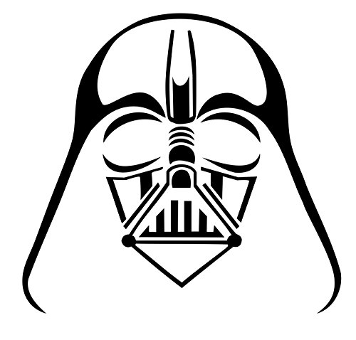 Darth Vader window sticker vinyl decal car truck fun White, Die cut vinyl decal for windows, cars, trucks, tool boxes, laptops, MacBook - virtually any hard, smooth surface (black)
