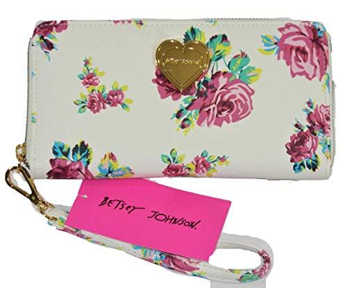 Betsey Johnson Floral Zip-Around Wallet/Wristlet (Pink Flower)