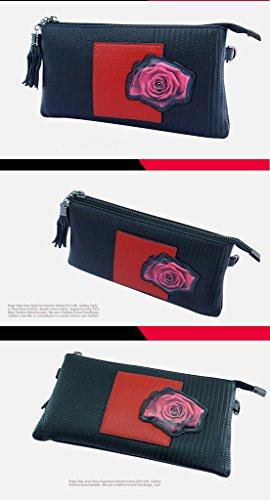 Home Monopoly Sacchetto di mano di modo della borsa della borsa femminile porta la croce diagonale con un piccolo sacchetto