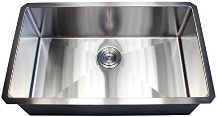 ARIEL – 30 Inch Stainless Steel Undermount Single Bowl Kitchen Sink 15mm Radius Design