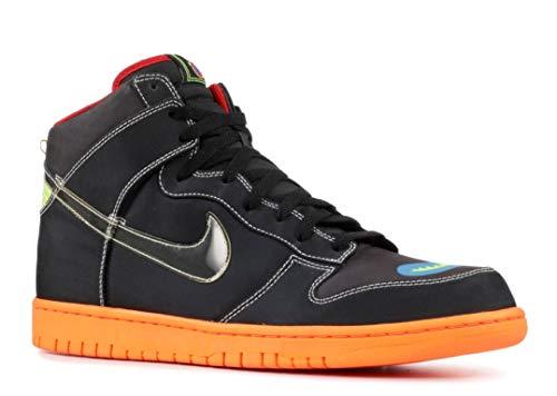 Nike Dunk High X Premium Cassette Playa Mens Shoes [306968-005] Black/Black-Sport-Red-Orion Blue Mens Shoes 306968-005