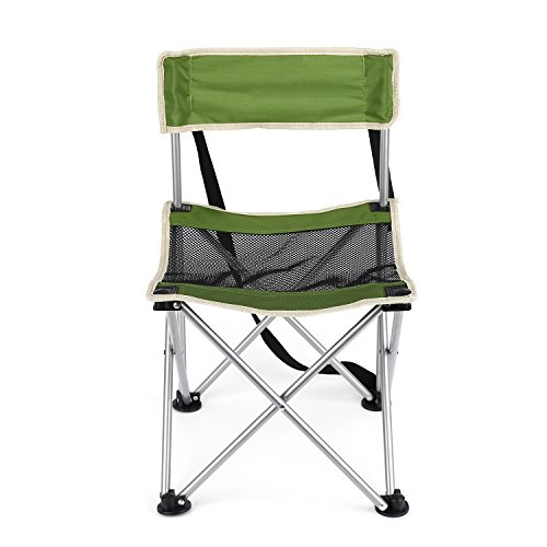 Green Picnic Chair (OUTAD Camping Chair, Folding Picnic Chair with Back Rest, Weight Support: 300 Pounds)
