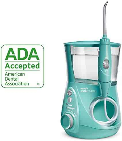 Waterpik Water Flosser Electric Dental Countertop Oral Irrigator For Teeth – Aquarius Designer, WP-676 Teal