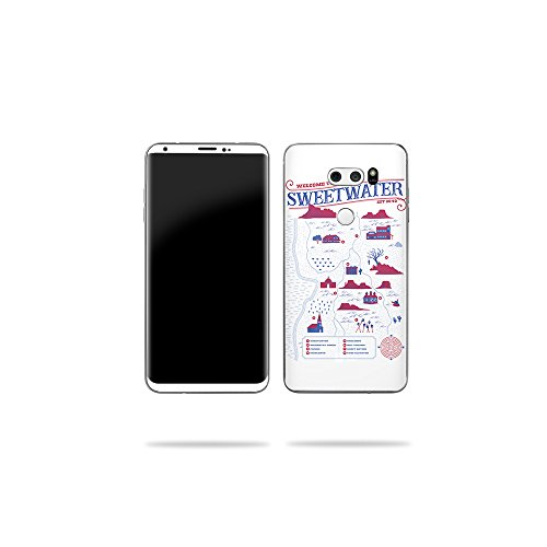 Price comparison product image MightySkins Skin Compatible with LG V30 - Sweetwater Map / Protective,  Durable,  and Unique Vinyl Decal wrap Cover / Easy to Apply,  Remove,  and Change Styles / Made in The USA