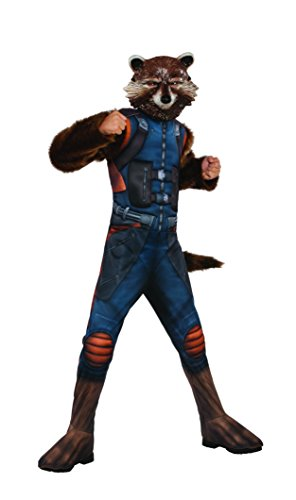 Rubie's Costume Guardians of The Galaxy Vol. 2 Deluxe Muscle Chest Rocket Raccoon Costume, Multicolor, Large