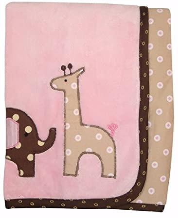 Amazon.com : Lambs & Ivy Minky Blanket with Applique, Emma ...