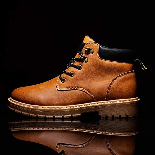 LOVDRAM Stiefel Männer Männer Männer Herbst Und Winter Martin Stiefel Herren Hoch Zu Vielseitigem Werkzeug Schuhe Gelb Stiefel Stiefel Schuhe Zu Helfen cbae02