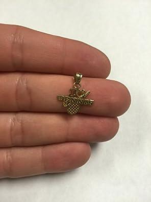 Ice on Fire Jewelry 10k Rose Gold Tennis Pendant