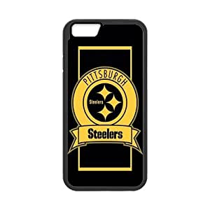Classic Style Custom Silicone Hard Rubber Protector Case for iPhone6(4.7inch) - Pittsburgh Steelers