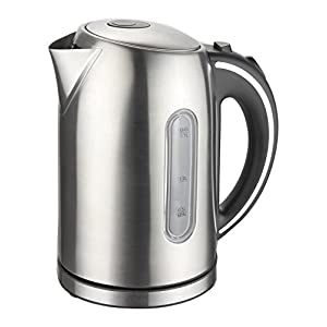 Mega Chef MGKTL-1739 Stainless Steel Electric Tea Kettle, 1.7 L