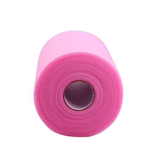 [해외]핑크 얇은 명주 그물 롤 스풀 6 인치 x 300 피트 100 야드) 용 얇은 명주 그물 테이블 스커트 파티 웨딩 장식 / Pink Tulle Roll Spool 6 inch x 300 Feet (100 yards) for Tulle Fabric Table Skirt Party Wedding Decorations