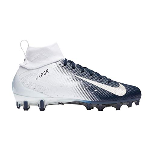 16985c57c87654 Nike New Mens Vapor Untouchable Pro 3 Football Cleats White Navy Blue Sz 14  M