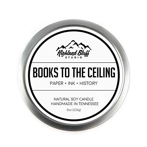 Highland Bluff Studio Books to The Ceiling Scented Tin Candle