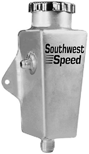 Southwest Speed Square Aluminum Power Steering Reservoir Bracket & Cap, 8 1/8