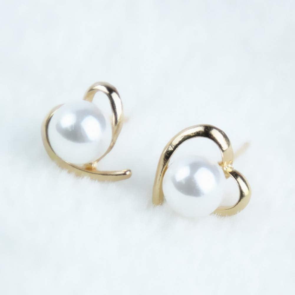 Pendientes de aleación de moda Joyería de moda Pendientes de perlas de color oro rosa