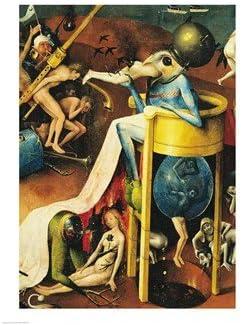 El jardín de las delicias: Hell, ala derecha de tríptico, de detalle de pájaro azul-Man un taburete, c, 1500 Hieronymus Bosch Póster de 18 x 24: Amazon.es: Hogar