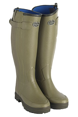 LE CHAMEAU 1927 Women's Chasseur Neoprene Lined Boot NÉO LD W - US 7 (Calf 38cm) Green ()