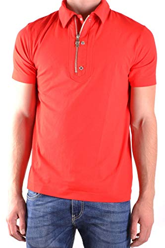 Dirk Bikkembergs Men's Mcbi31284 Red Cotton Polo Shirt