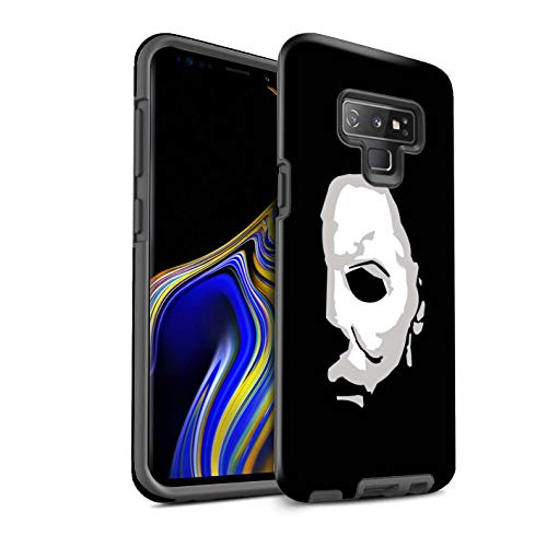 eSwish Gloss Tough Shock Proof Phone Case for Samsung Galaxy Note 9/N960 / Michael Myers Inspired Art Design/Horror Movie Art Collection]()