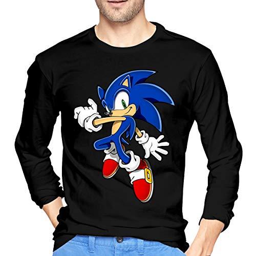 NeedLove Mens Classic Mavis Sonic The Hedgehog Long Sleeve Tshirt S Black